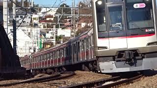 東急東横線5050系5170F菊名カーブ通過