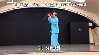 42 Form Tai Chi Sword (Back View) (2013.09.28)