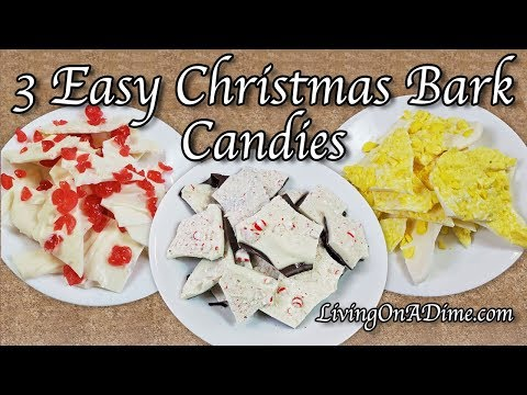 3 Easy Christmas Candy Bark Recipes! Easy Christmas Candy Recipes!