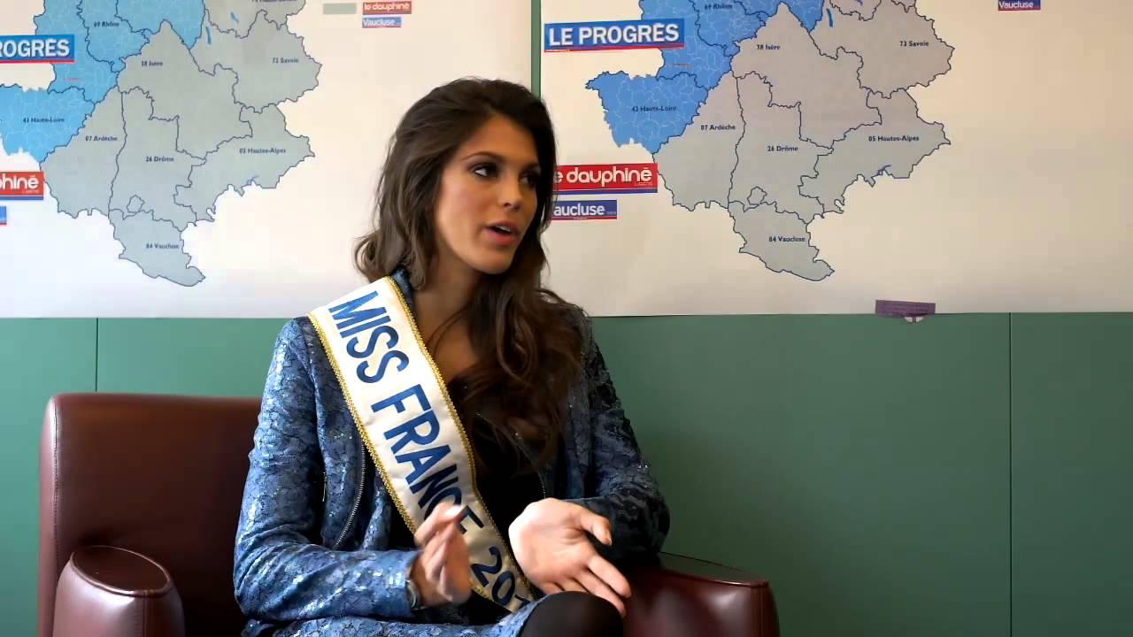 Interview d 39 iris mittenaere miss france 2016 youtube - Miss france 2017 interview ...
