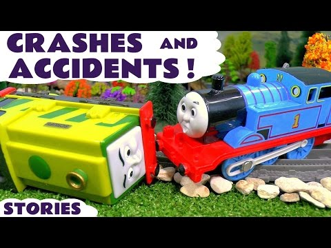 Thomas and Friends Crashes and Accidents with Toy Trains for kids with Paw Patrol Train toys TT4U