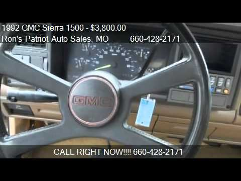 1992 gmc sierra 1500 reg cab 8 ft bed 2wd for sale in wa youtube youtube