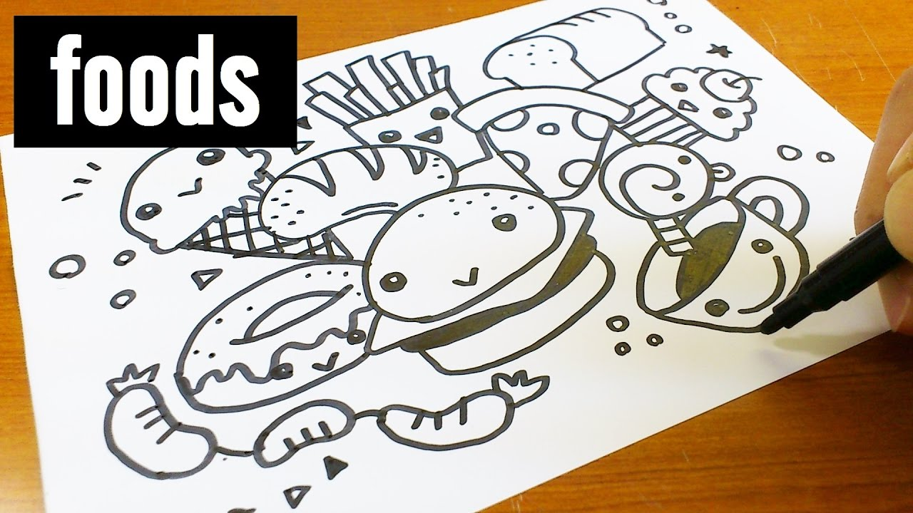 How to draw cute kawaii doodle foods doodle for kids for How to draw doodles