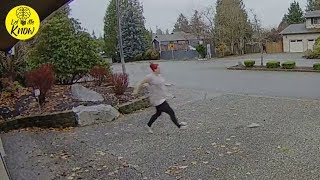 A Thief Attempted To Steal An Amazon Package – But Little Did She Know That The Nanny Was Home