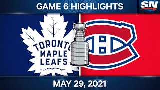 NHL Game Highlights   Maple Leafs  vs. Canadiens, Game 6 – May 29, 2021