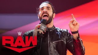 Seth Rollins delivers scathing rant against the WWE Universe: Raw, Dec. 9, 2019