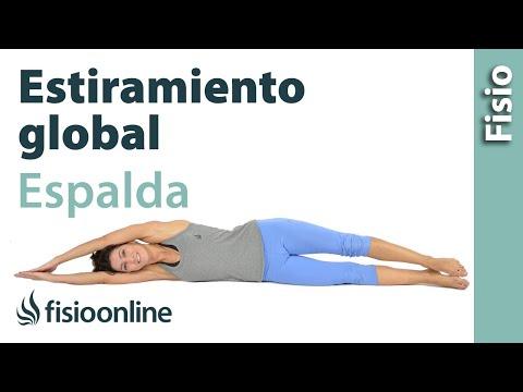 Estiramiento global de tronco, brazo y pierna para la espalda