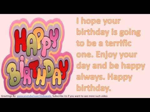 Happy birthday wishes to friend, SMS message, Greetings, Whatsapp Video -4