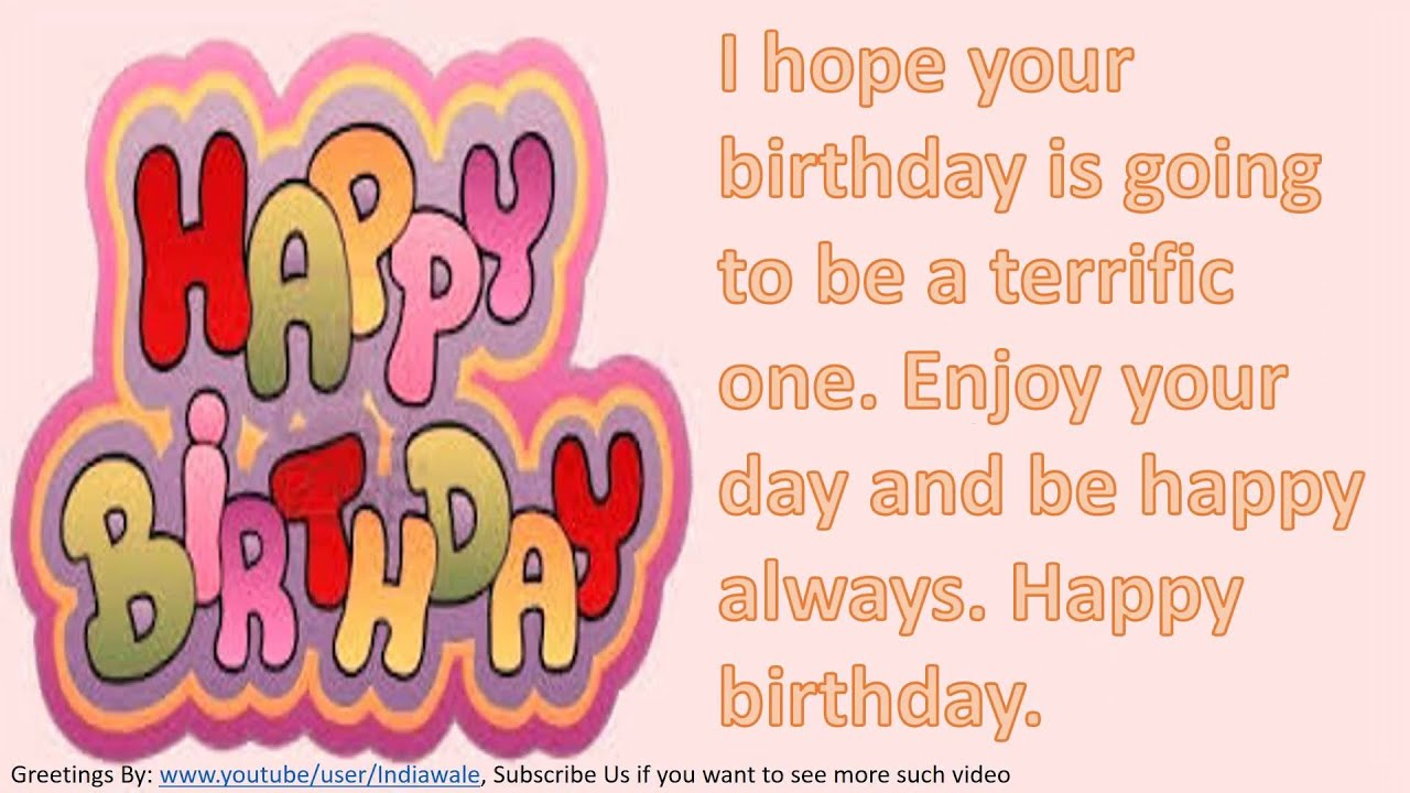Happy Birthday Wishes To Friend SMS Message Greetings Whatsapp Video 4