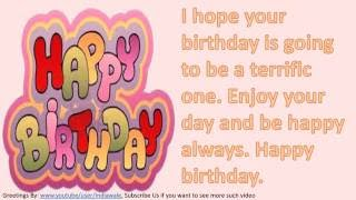 Video Happy birthday wishes to friend, SMS message, Greetings, Whatsapp Video -4 download MP3, 3GP, MP4, WEBM, AVI, FLV Mei 2018