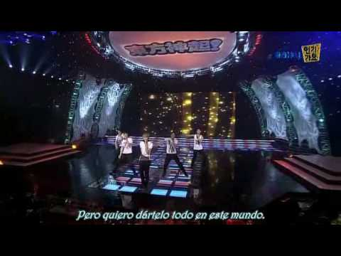 DBSK Hug performace + Cassiopeia chants  Spanish subs