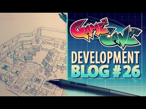 Game Cave Dev Blog #026- Drawing Game Cave Online Interior
