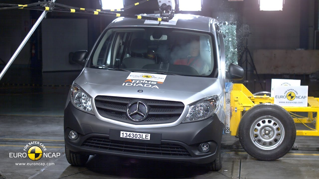 mercedes citan crash test euro ncap youtube. Black Bedroom Furniture Sets. Home Design Ideas