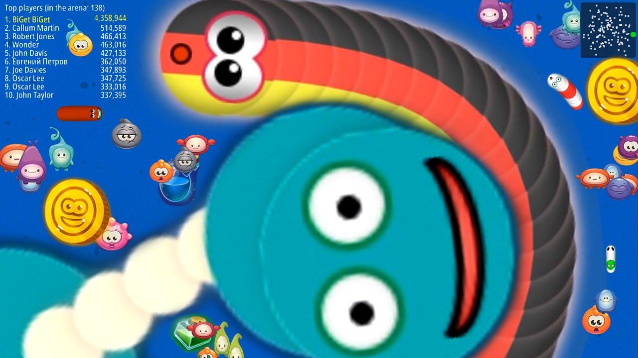 WormsZone.io 3,279,000 +Score Giant Slither Snake Top 01 /Best World Record WormsZoneio #81