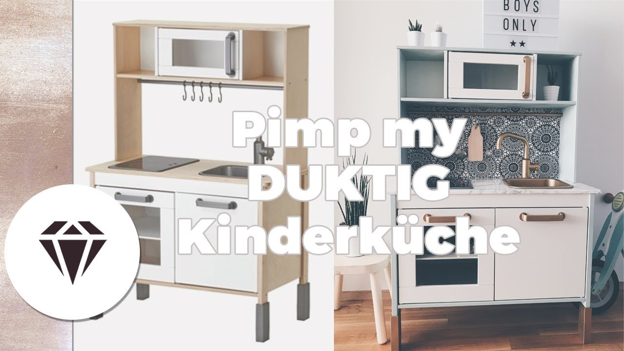 pimp my ikea duktig kinderk che i rund um s kind by nela lee youtube. Black Bedroom Furniture Sets. Home Design Ideas