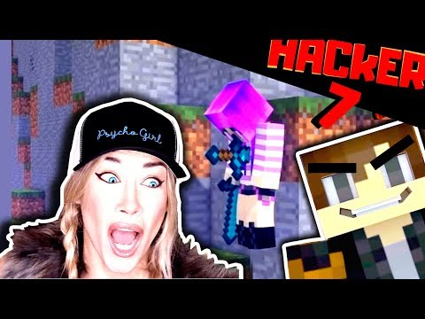 THE FINAL HACK! | PSYCHO GiRL REACTION To HACKER 7 | Minecraft Music