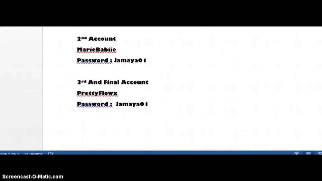 3 Free IMVU Accounts