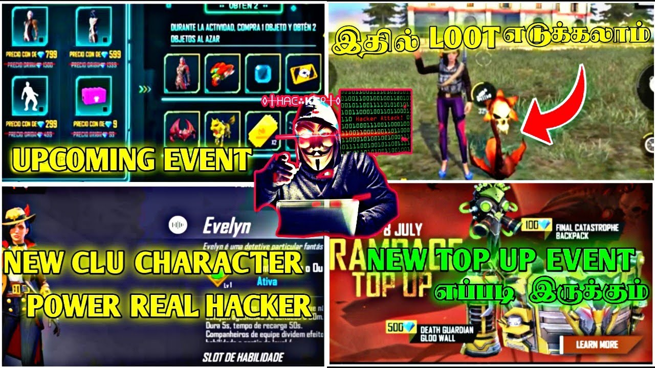 NEW CLU CHARACTER / NEW LOOTED / RAMPAGE TOP UP UPCOMING UPDATES FULL DETAIL GAMING DHEENA FREE FIRE