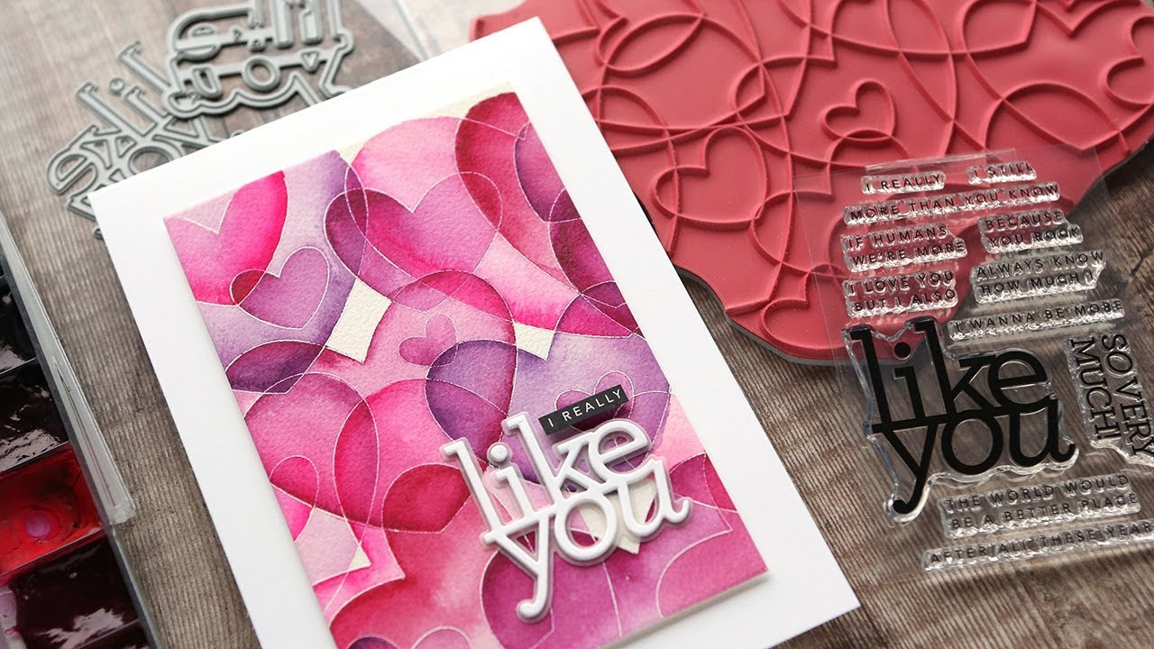 watercolor hearts valentine's day card  youtube