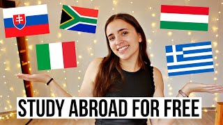 Budget-friendly study abroad destinations 💰🎓✨Best countries to study abroad for free ✈️🌎💸 Part 2