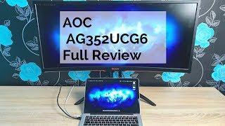 aOC AGON 35'' AG352UCG6 Ultra wide Curved Gaming Monitor Review