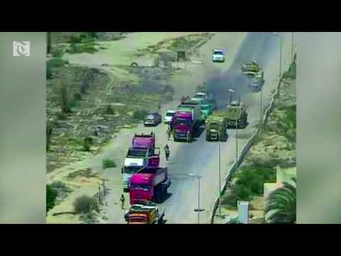 CCTV captures Sinai car bomb explosion that killed 7 civilians