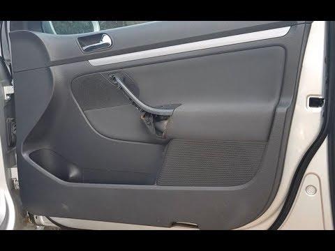 How To Remove Inner Door Panel (passenger Side) On VW Golf Mk5, Jetta In 6  Steps