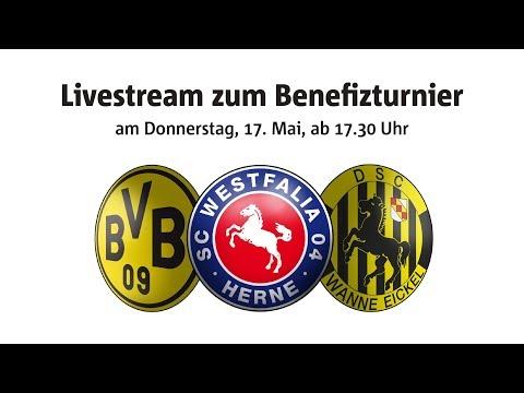 Benefizturnier mit Borussia Dortmund, DSC Wanne-Eickel und Westfalia Herne