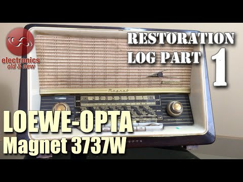 Loewe-Opta Magnet 3737W tube radio restoration - Part 1. First look some preliminary testing.