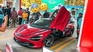 What happened when supercar entered petrol station