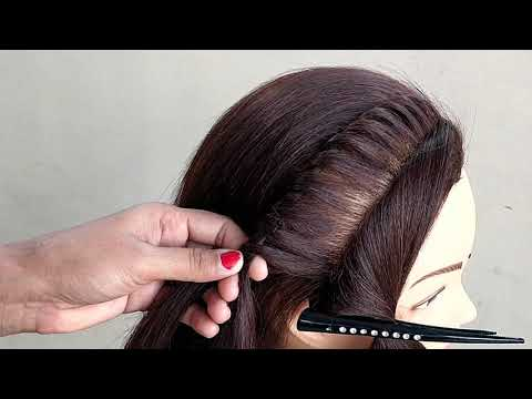 Awesome !! Hairstyle For Party For Medium or Short Hair || Beautiful Hairstyle For Party thumbnail