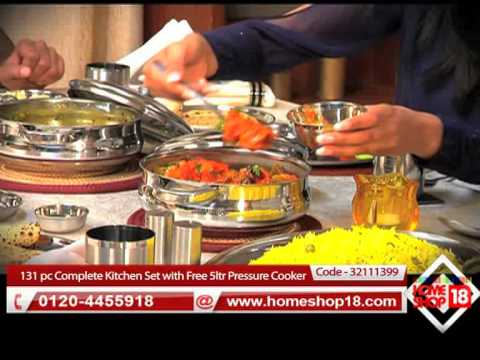 Homeshop18 Com Everwel 131 Pc Complete Kitchen Set With Free 5ltr