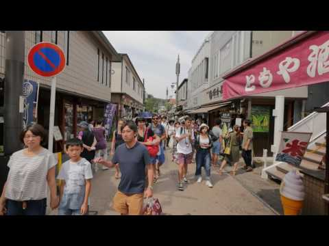 【4K】Kamakura. Walking from the station to Tsurugaoka Hachimangu and back
