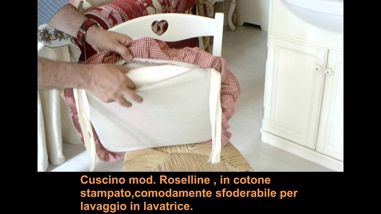 Coprisedie Shabby Chic Sedia Cuore In Stile Country Youtube