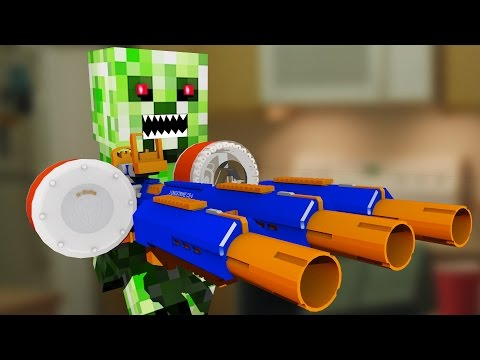 Nerf War: Nerf meets Minecraft 4 (Minecraft In Real Life)