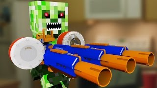 Nerf War: Nerf meets Minecraft 4 (Minecraft In Real Life)