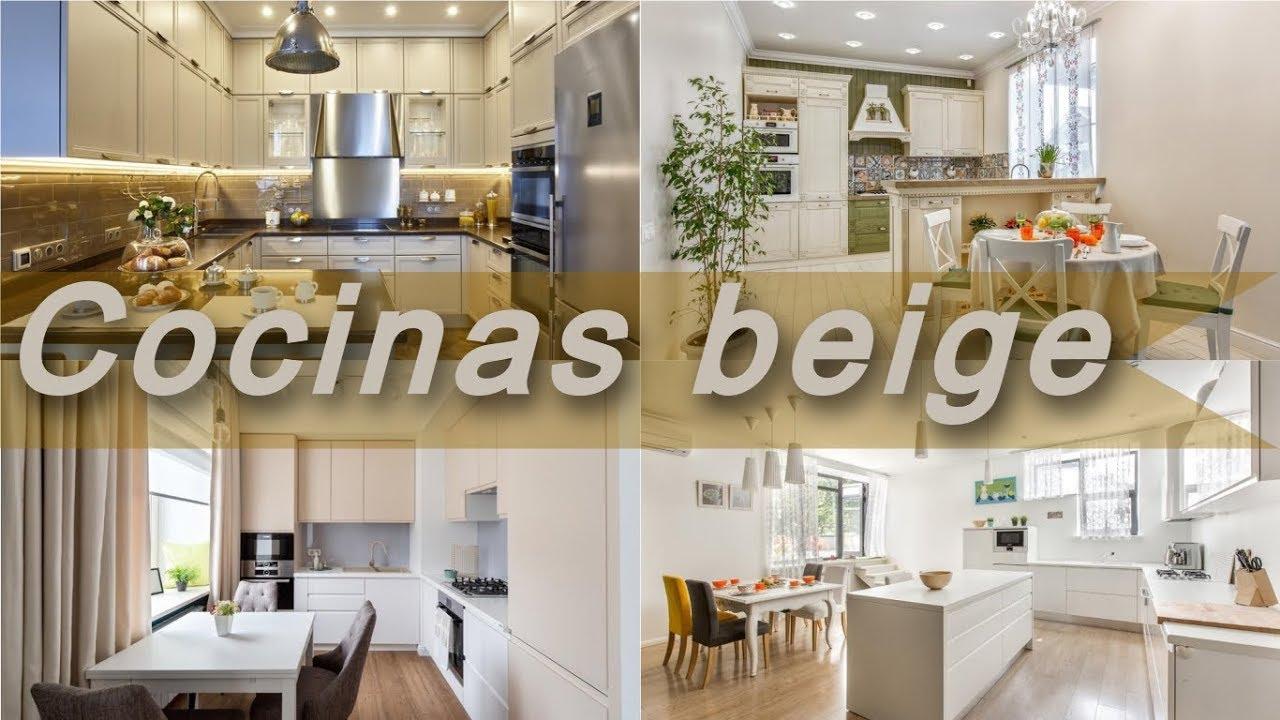Cocinas 🍕 modernas beige - modelos de cocinas
