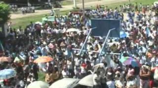 Lic. Otto Peralta Alcalde Municipal de taxisco Entrega de Dipomas Abanderados
