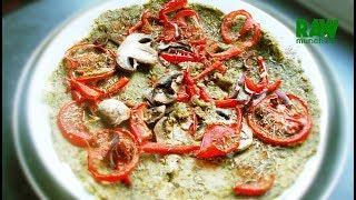 From Mission Raw Cookbook: Raw Vegan Zucchini Crust Pizza | Rawmunchies.org | Raw Vegan Recipes