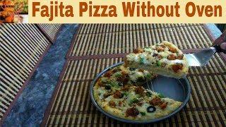 Chicken Fajita Pizza without Oven RecipePizza In Pressure Cooker Recipe (In Urdu) By Shaz Kitchen