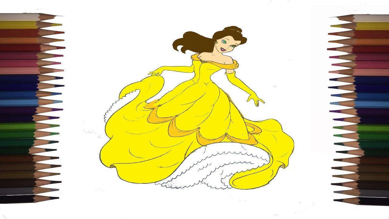 Prenses Bella Boyama Calismasi Princess Bella Painting Study