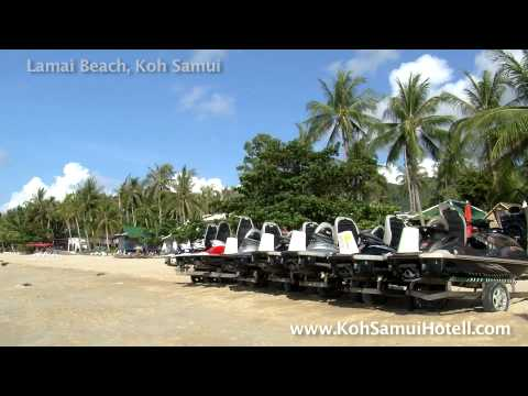 Lamai Beach a sunny day in April. Koh Samui