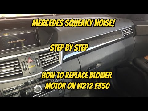 Mercedes w212 blower motor replacement on E350! Step by step DIY!