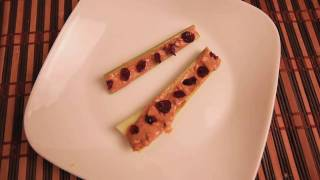 Red Ants On A Log (peanut Butter, Cranberry, Cellery) In Less Than 30 Seconds From Yummeo