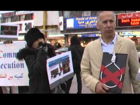 April10 Rayhane Demo for Rayhana Jabbari Agains Islamic Regime