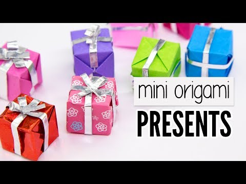 Easy Origami Mini Presents Tutorial - DIY - Paper Kawaii