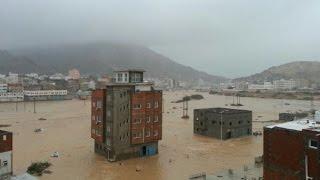 floods in Yemen, coastal storm in  Al Mukalla, Wadi Hadramaut, Socotra, Hurricane Chapala .