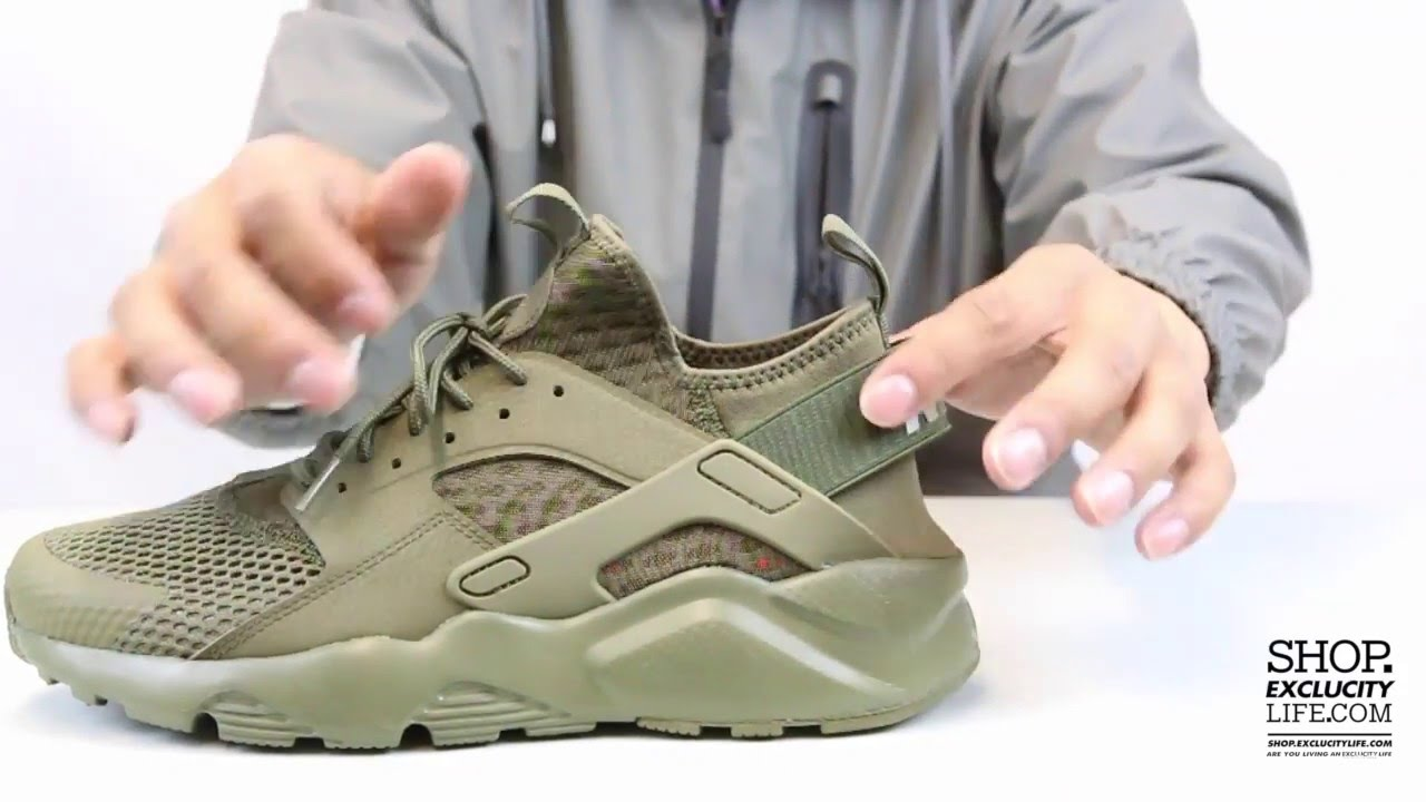 9d26fd6dbf9b6 Nike Huarache Ultra BR - Medium Olive - Unboxing Video at Exclucity ...