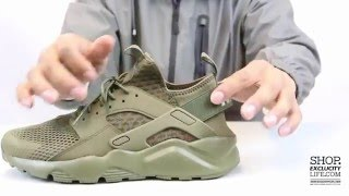 Nike Huarache Ultra BR - Medium Olive - Unboxing Video at Exclucity