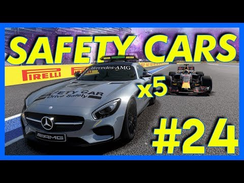 F1 2017 Career Mode Gameplay : 5 SAFETY CARS IN ONE RACE!! (Part 24)